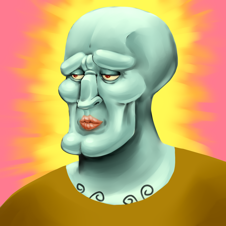 handsome squidward by hitokirim on deviantart
