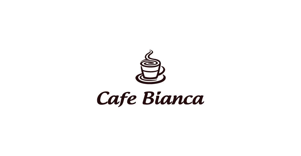 Cafe Bianca logo by morecolor