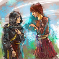 Fia and Lagle By Jesterry