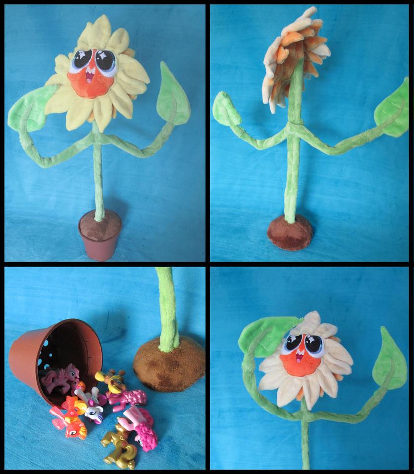 Rainbow's Nightmare Flower Plush / Trinket box by Jillah92