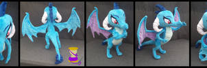 Poseable Ember Dragon Lord Plushie [For Sale]