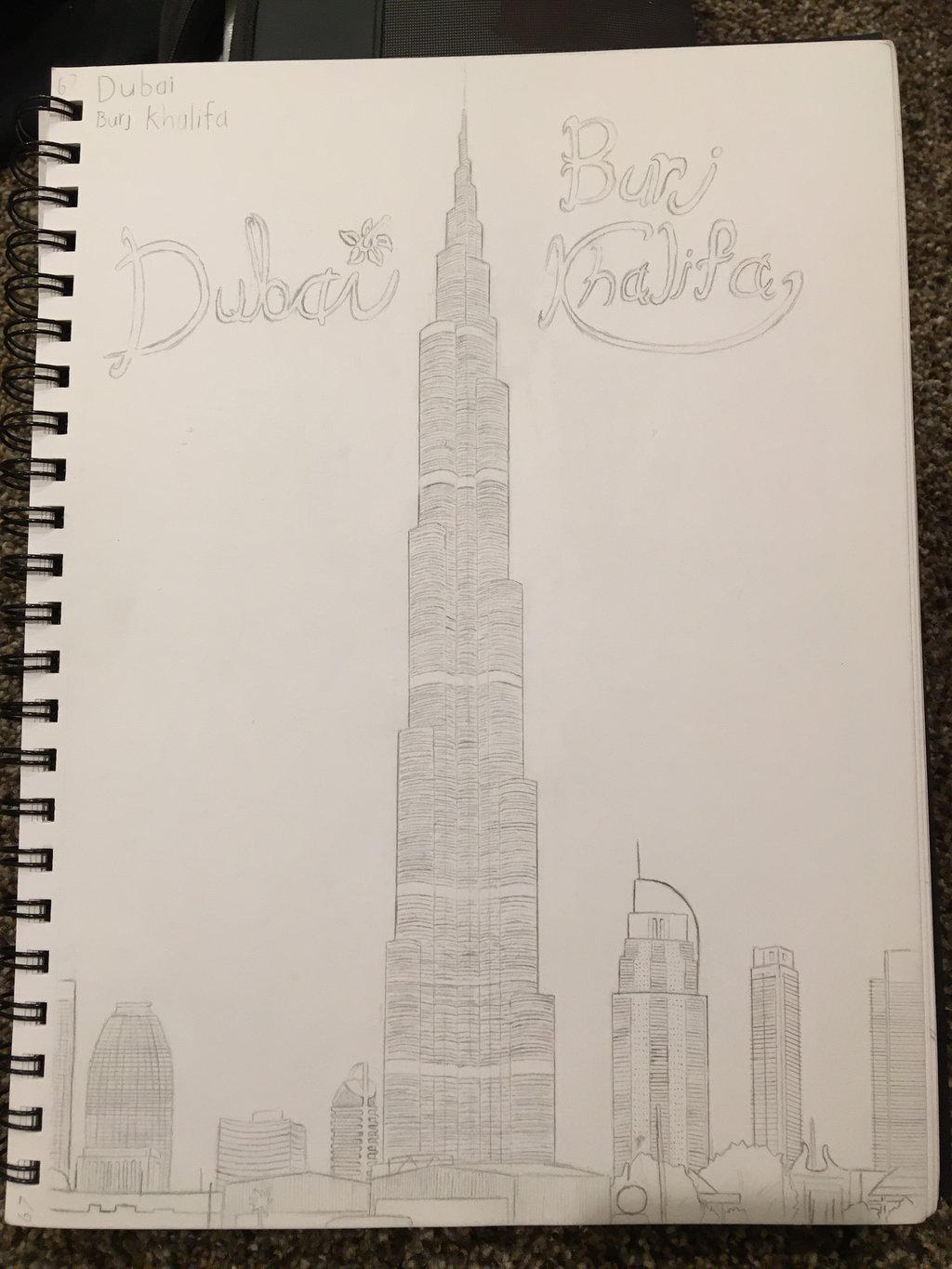 Burj khalifa sketch by chainsaw8712 on deviantart for Burj khalifa sketch
