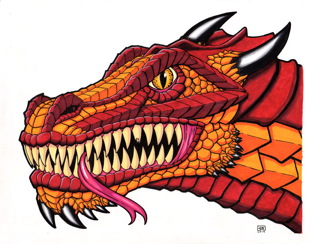Dragon Head Color By Therigger On Deviantart