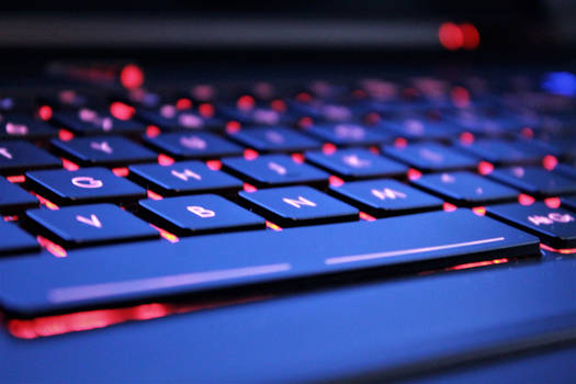 Red Glowing Keyboard