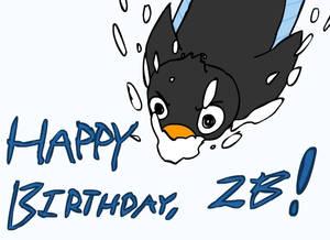 Penguin Dive! Happy B-day ZB!