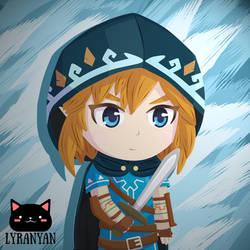 Chibi Link - Zelda Breath of the Wild Fanart by LyraNyanART