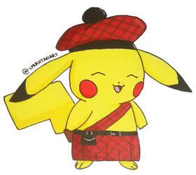 Scotish Pikachu! by LyraNyanART