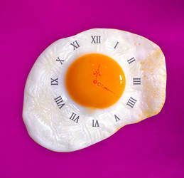 Fried egg clock