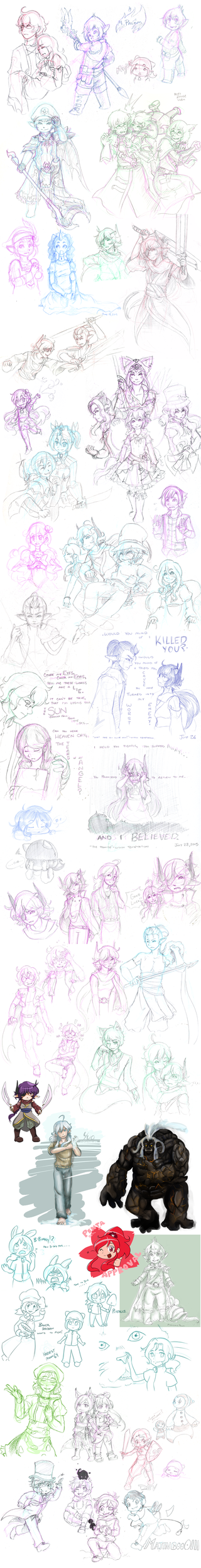 Sketchdump Sept 2015 by Overshadowed