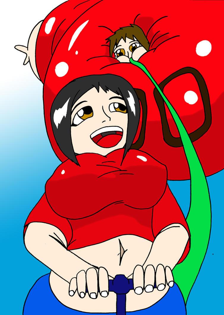 Lucy inflating me by WakaMiyafuji