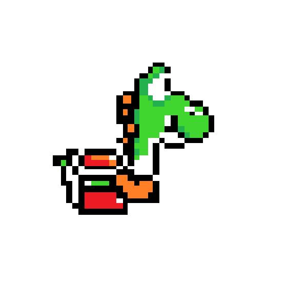Pixel Yoshi by XxSusieGoesRawrxX on DeviantArt