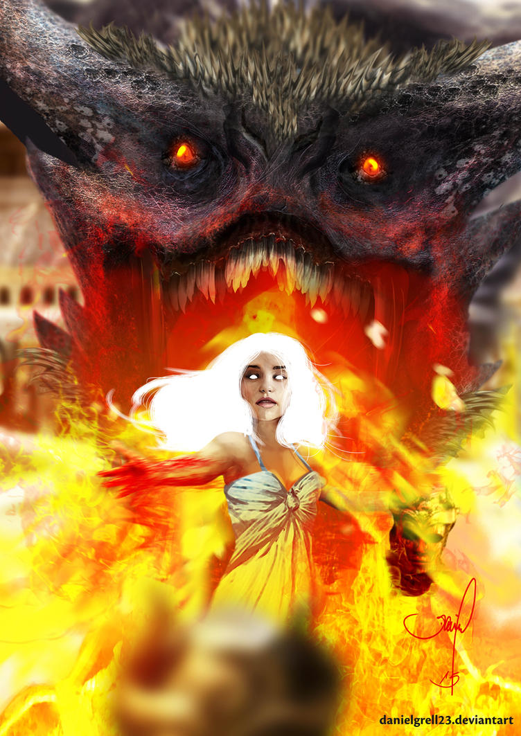Game of Thrones - Dragon by danielgrell23