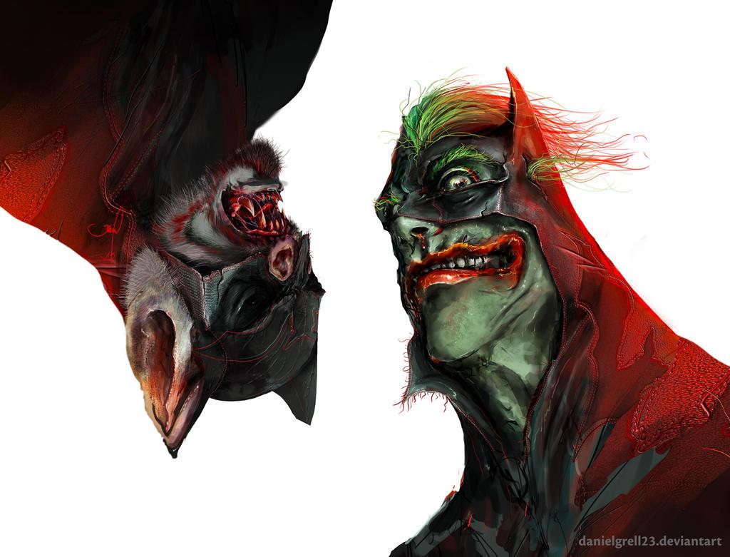 batman v joker by danielgrell23