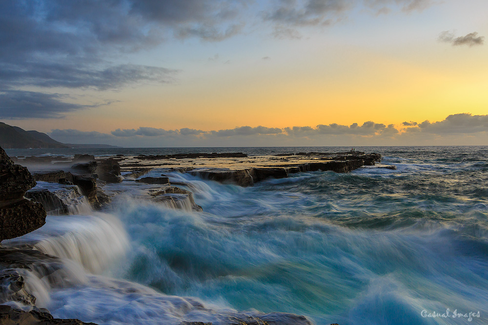 Water on Rocks by CasualImages