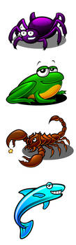 Animal Illustrations 1 by Pinwizkid