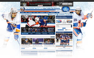 New York Islanders Site Design