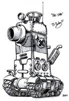 Metal Slug Tall Tank by Pinwizkid