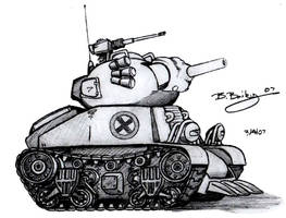 Metal Slug Rebel Army Tank 1 by Pinwizkid