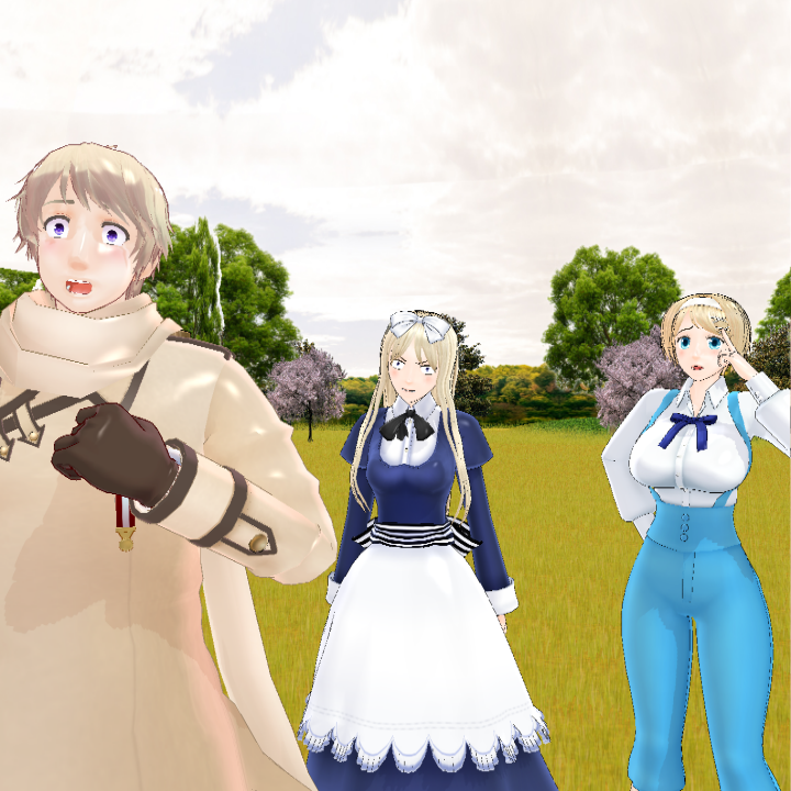 MMD APH Russia and his beloved sisters by Phantom-Ichigo