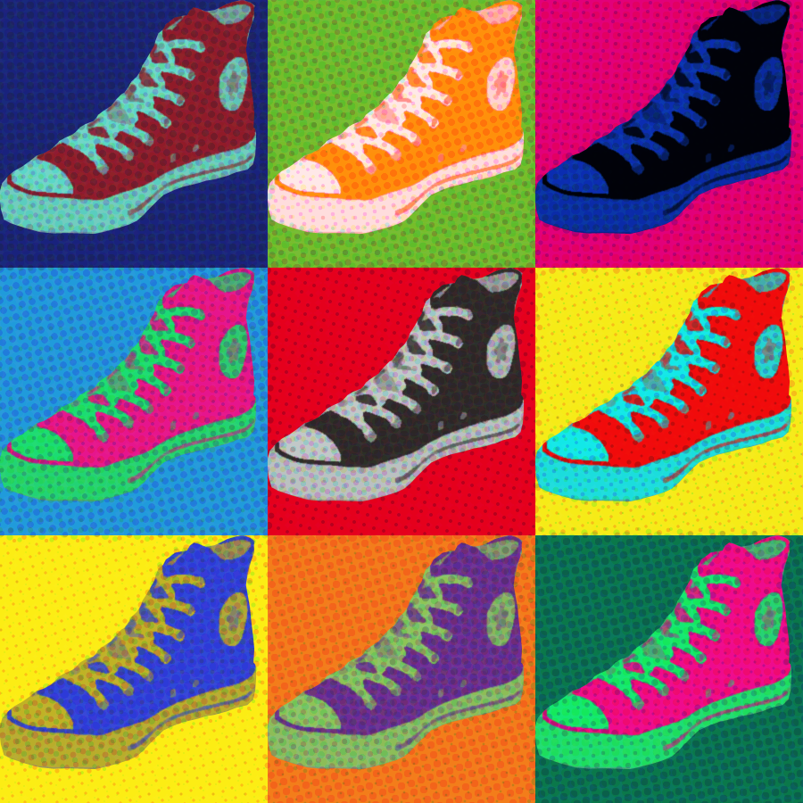 Andy Warhol Converse Shoes