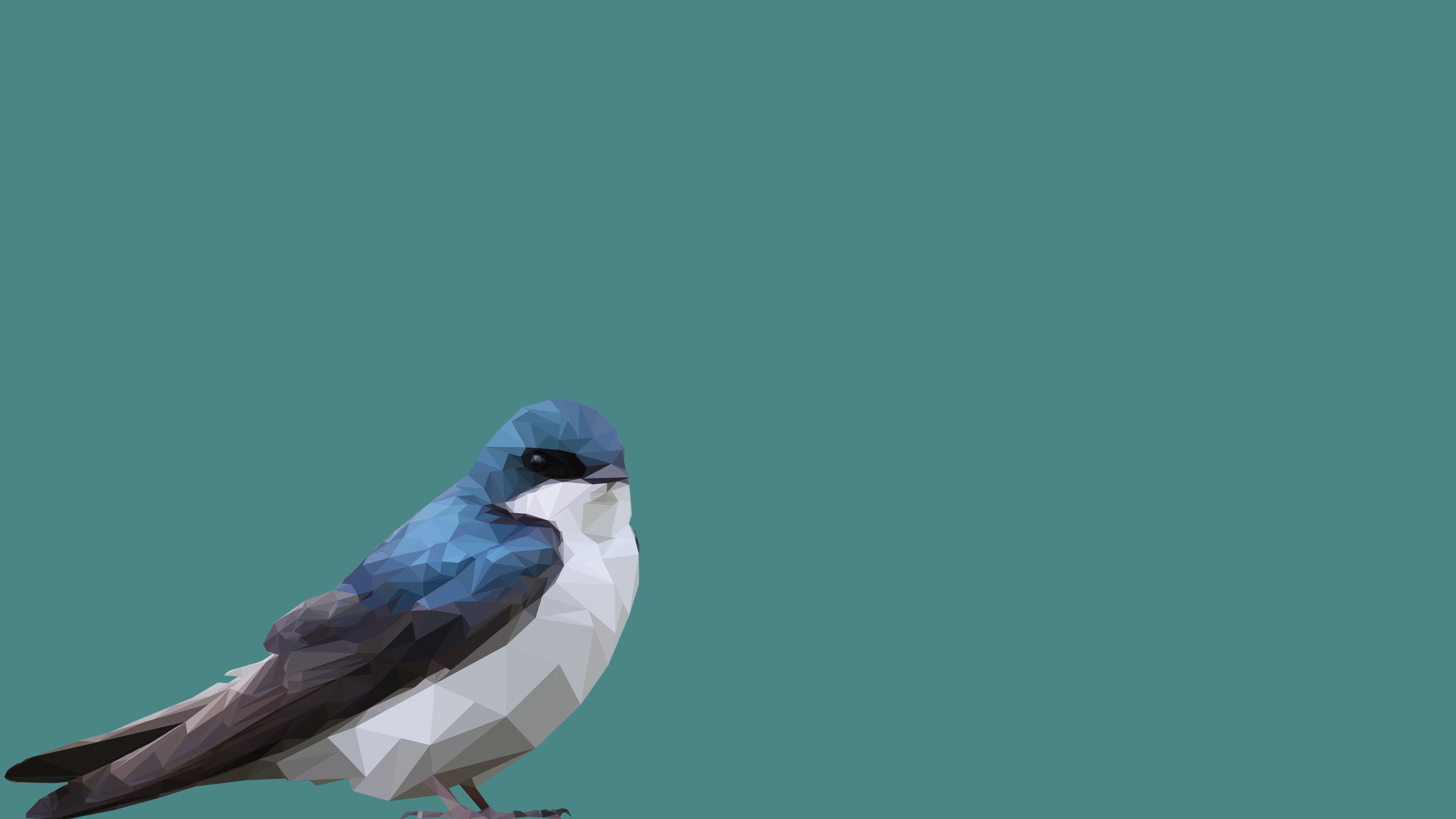 Best Wallpaper Bird Minimalist - low_poly_blue_bird_by_photosoups-db8kbsz  Image_857926.png