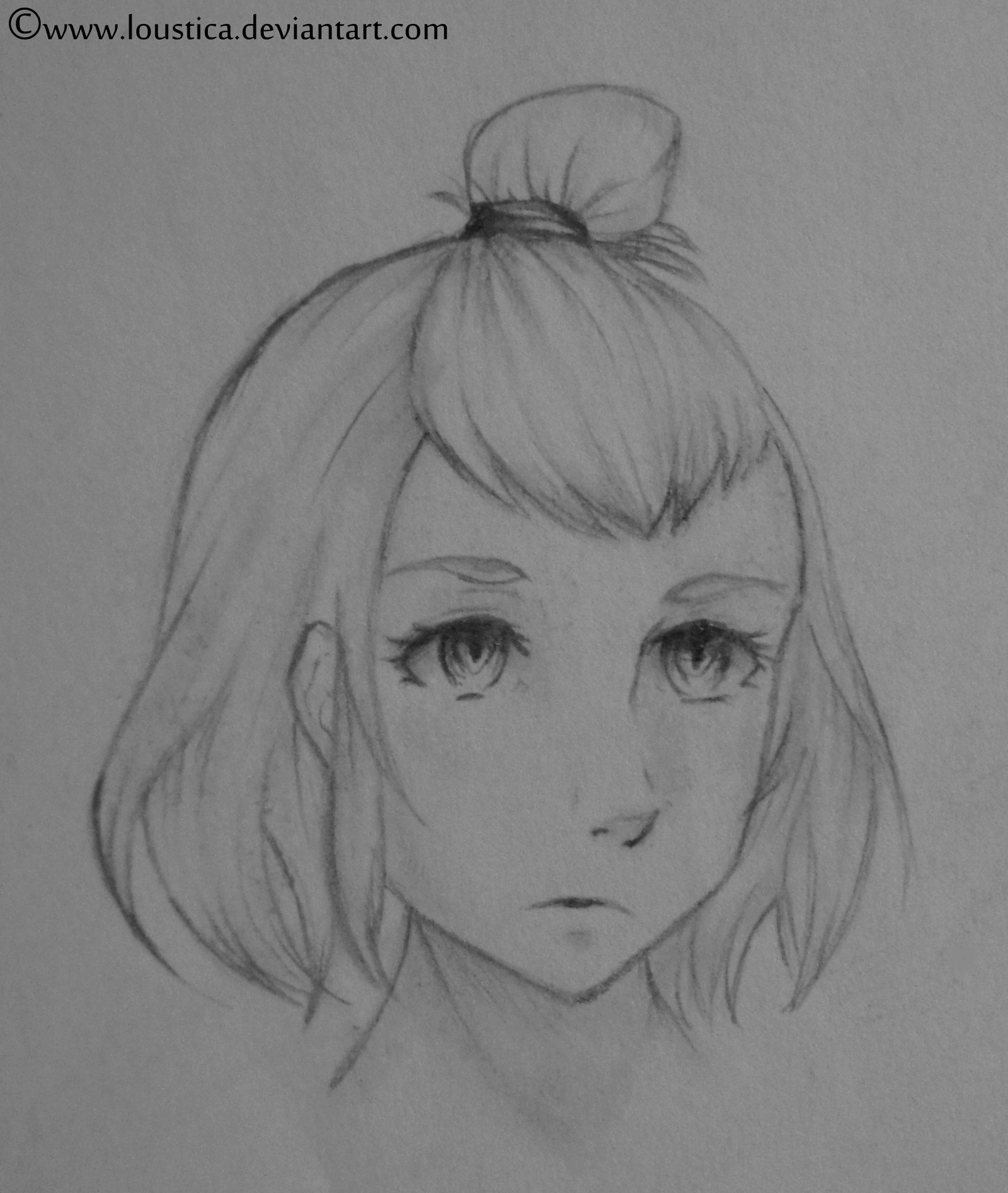 Sketch - Cute Girly Face By Loustica On DeviantArt