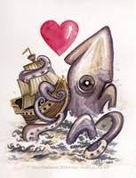 The Squid and the Boat by RedEyeLoon