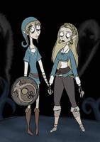 Link and Zelda (Take The Fan Art Mashup Challenge) by InverseWorld