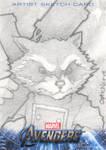 Avengers Assembled Sketchcard - Rocket Raccoon