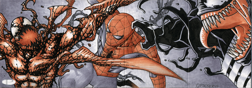 Marvel Premier -Carnage/Spider-Man/Venom by theopticnerve