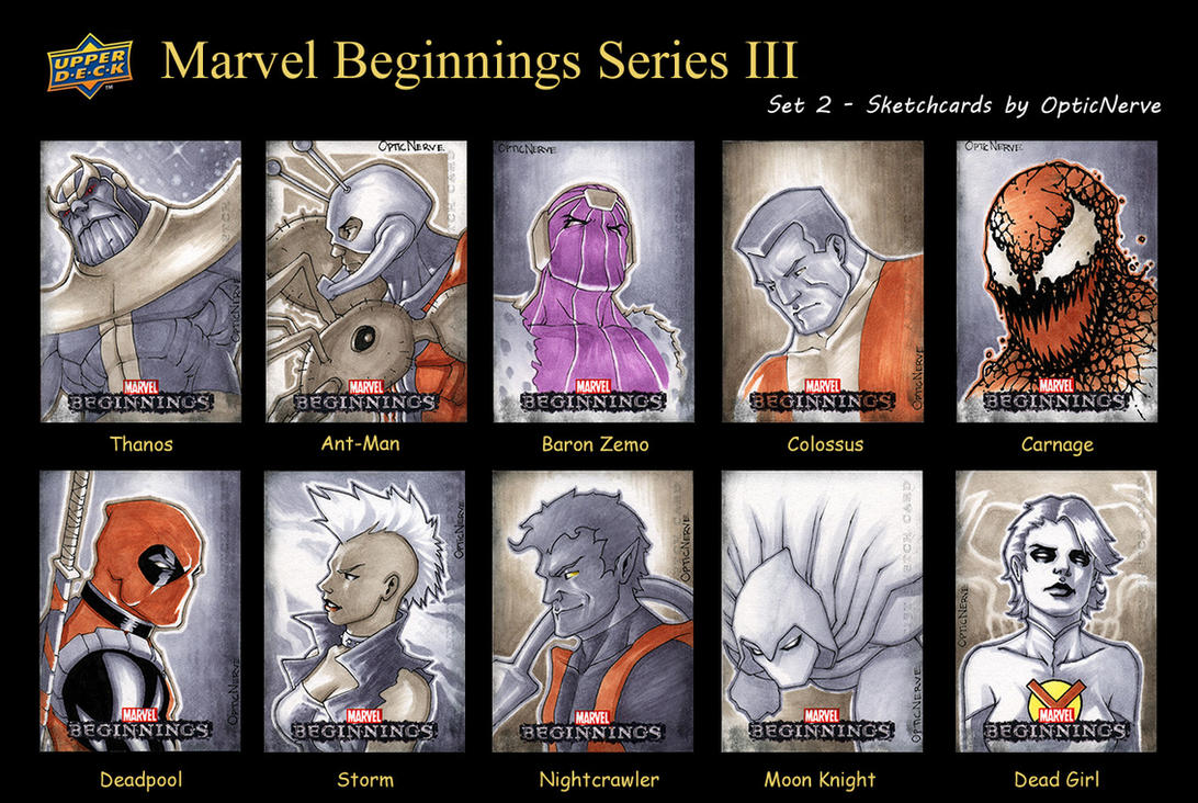 Marvel Beginnings 3 - Set 2 by theopticnerve