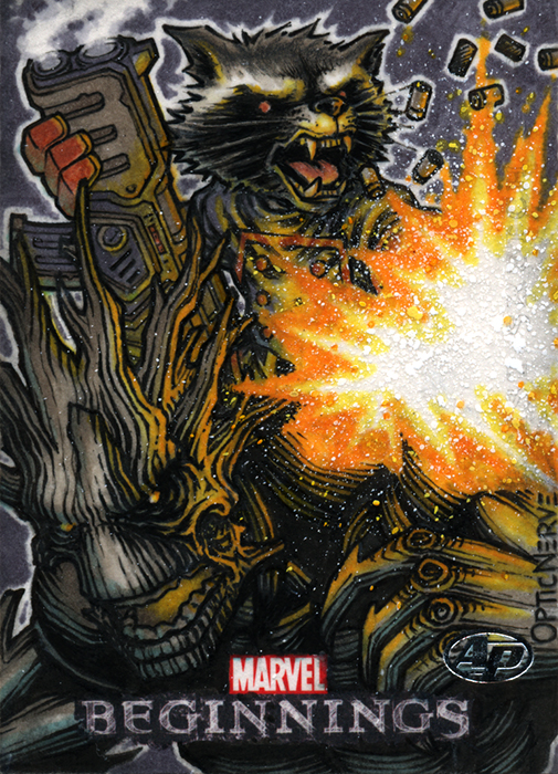 Marvel Beginnings 3: Rocket Raccoon and Groot AP by theopticnerve