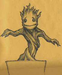 Dancing Baby Groot by theopticnerve