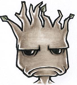 Grumpy Groot by theopticnerve