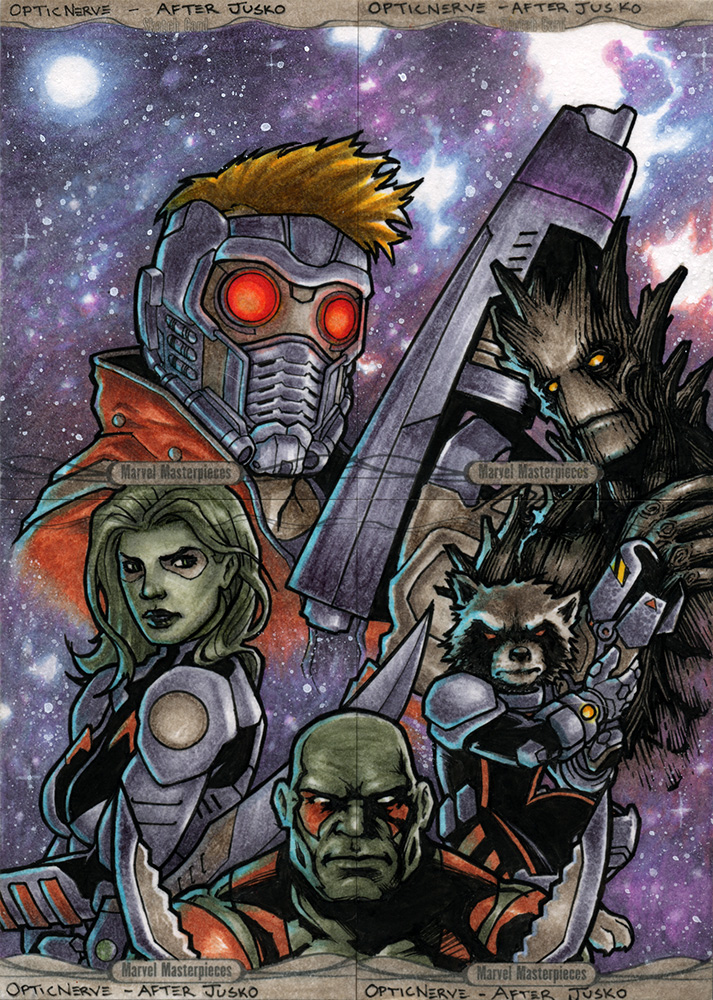 Marvel Masterpieces 2016 - Guardians of the Galaxy by theopticnerve