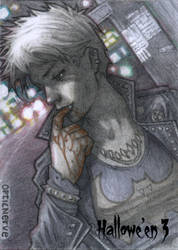 Hallowe'en 3 -  Female Punk Vampire