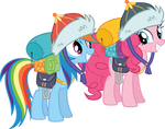 Pinkie Pie Vector and Rainbow Dash Gear