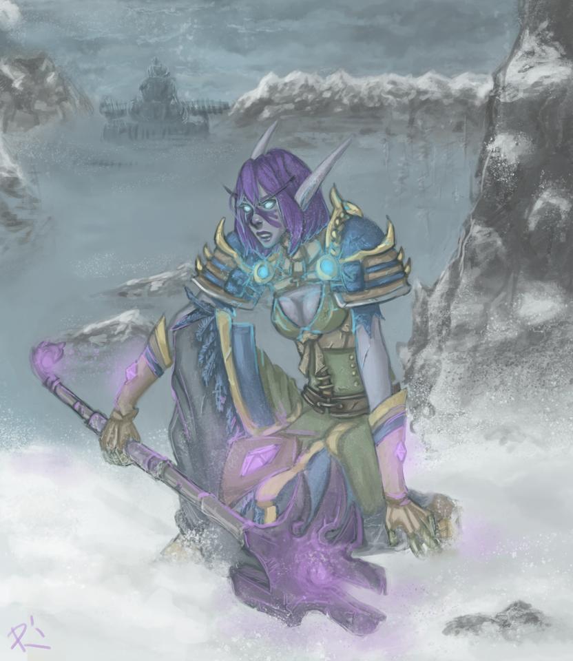 Aovin - World of Warcraft by Rionou