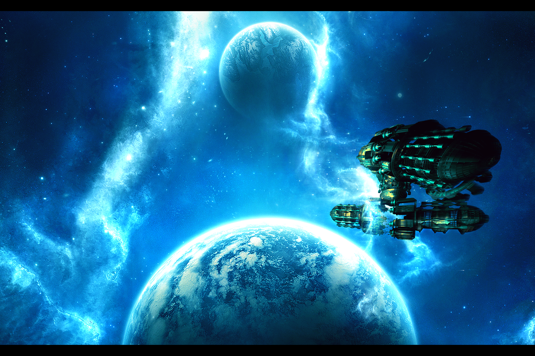 SPACESHIP on Nebula Sky by xXxpumaxXx