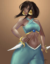 Warrior Queen Jasmine by sylessae