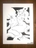 Inktober Mermaid by sylessae