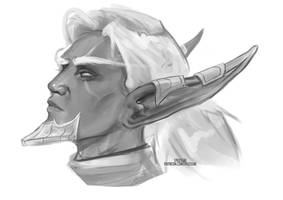Zimblebun OC Sketch [Ko-fi Commission] by sylessae