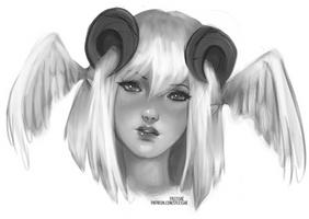 Eir Sketch Portrait [Ko-Fi Commission] by sylessae