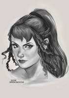 Marianne OC Sketch [Ko-Fi Commission] by sylessae