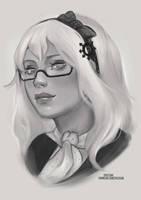 Sadrin OC Sketch [Ko-Fi Commission] by sylessae