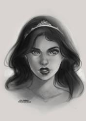 Adaline OC Sketch [Ko-Fi Commission #82] by sylessae