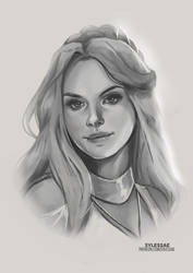 Queen Wrynn OC Sketch [Giveaway] by sylessae