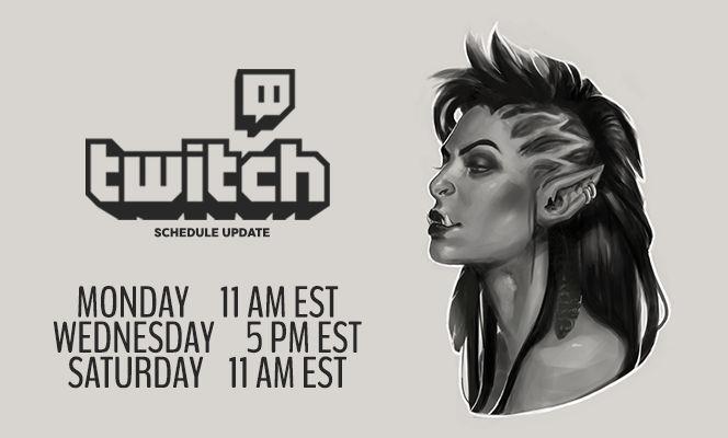 Twitch Schedule Update