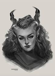 Junequest #7 - Ashyshort OC Sketch