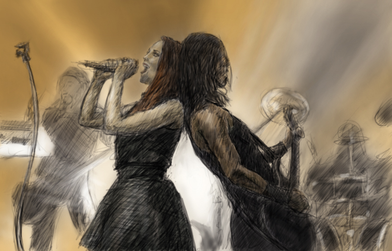 Epica (live) - FanArt by Charmyto